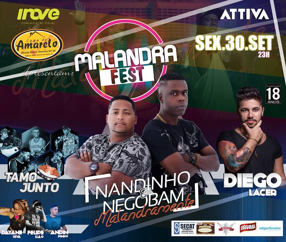 Malandra Fest na Casa do Amarelo
