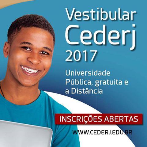VESTIBULAR CEDERJ 2017.1 – Inscrições abertas!