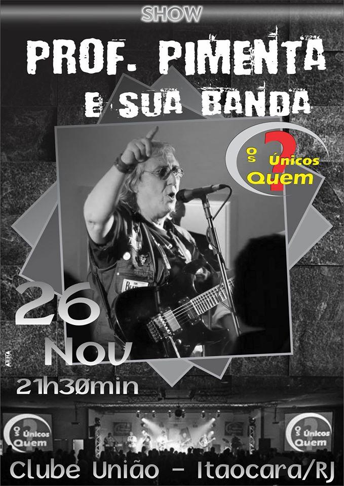 Professor Pimenta e sua Banda fará show no Clube União de Itaocara