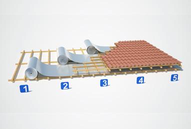 Instalação de manta termica para telhado
