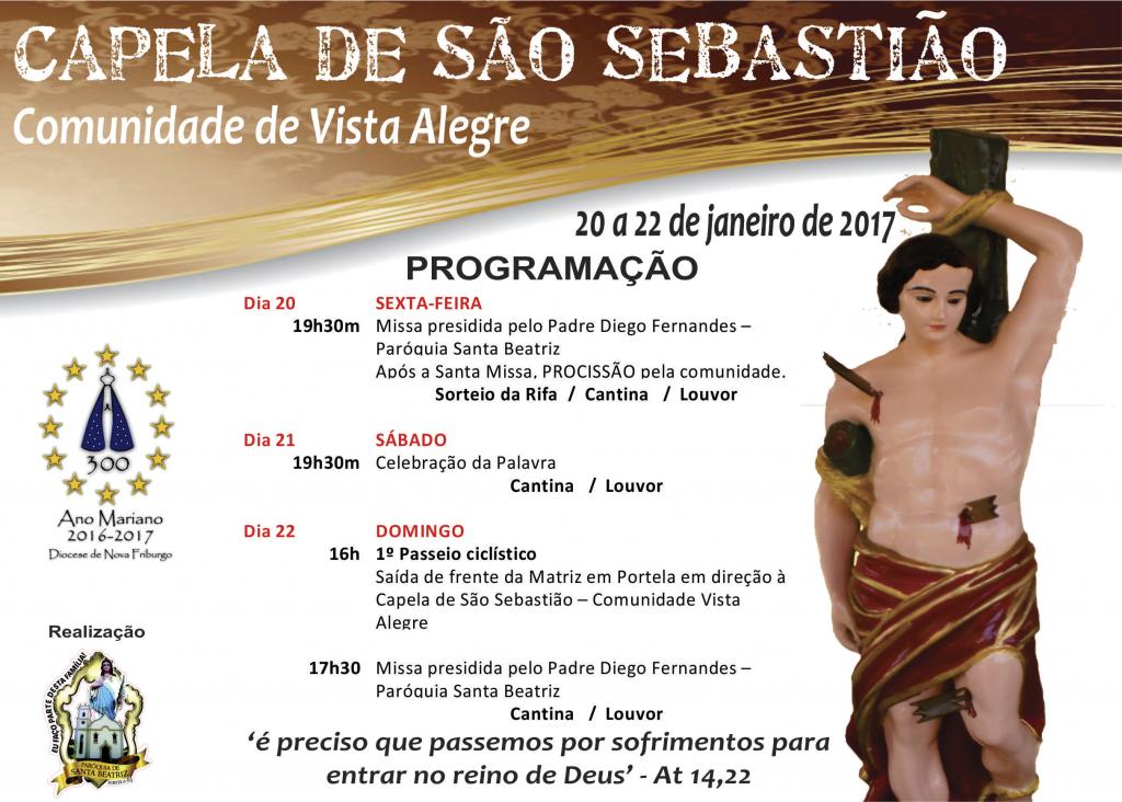 Programação da Capela de São Sebastião – Vista Alegre