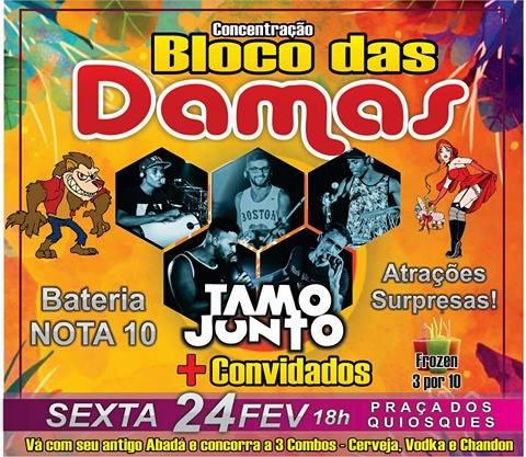 Nesta Sexta Feira tem Concentração do Bloco das Damas em Itaocara