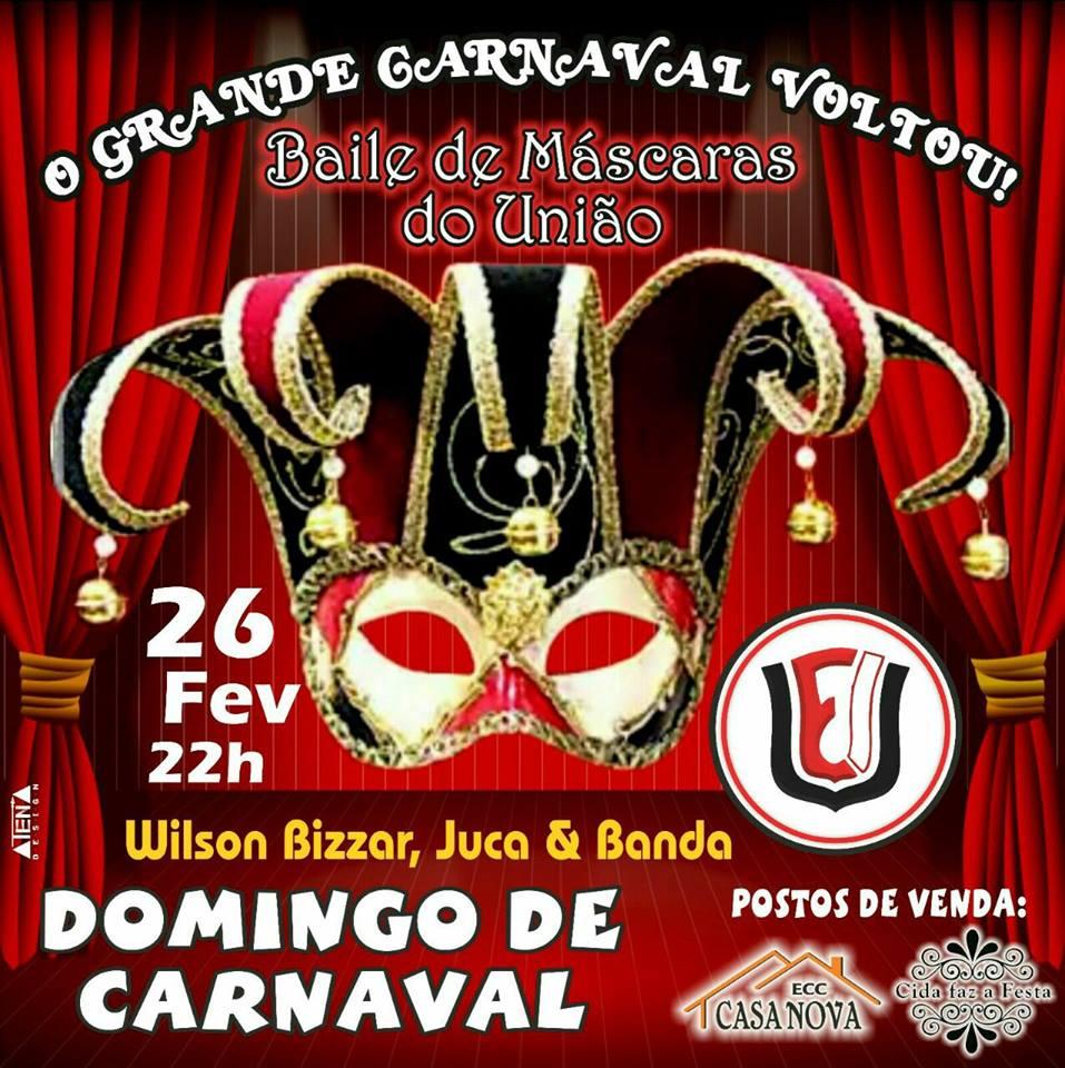 Baile de Máscara no União no Domingo de Carnaval
