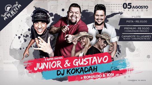 3 Super Shows no Arena Park em Cantagalo – 5 de agosto