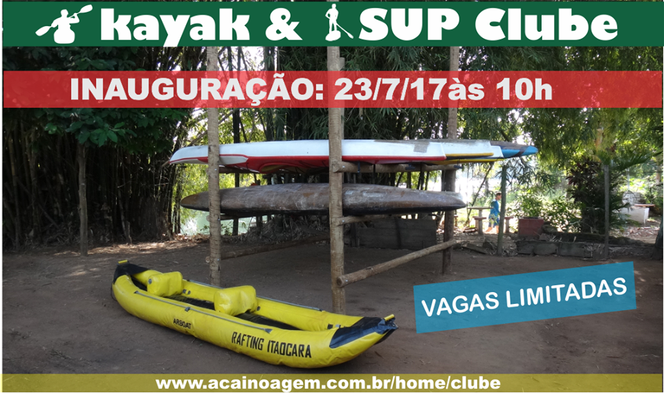 Inaugura neste domingo (23/07) em Itaocara o Kayak & Sup Clube
