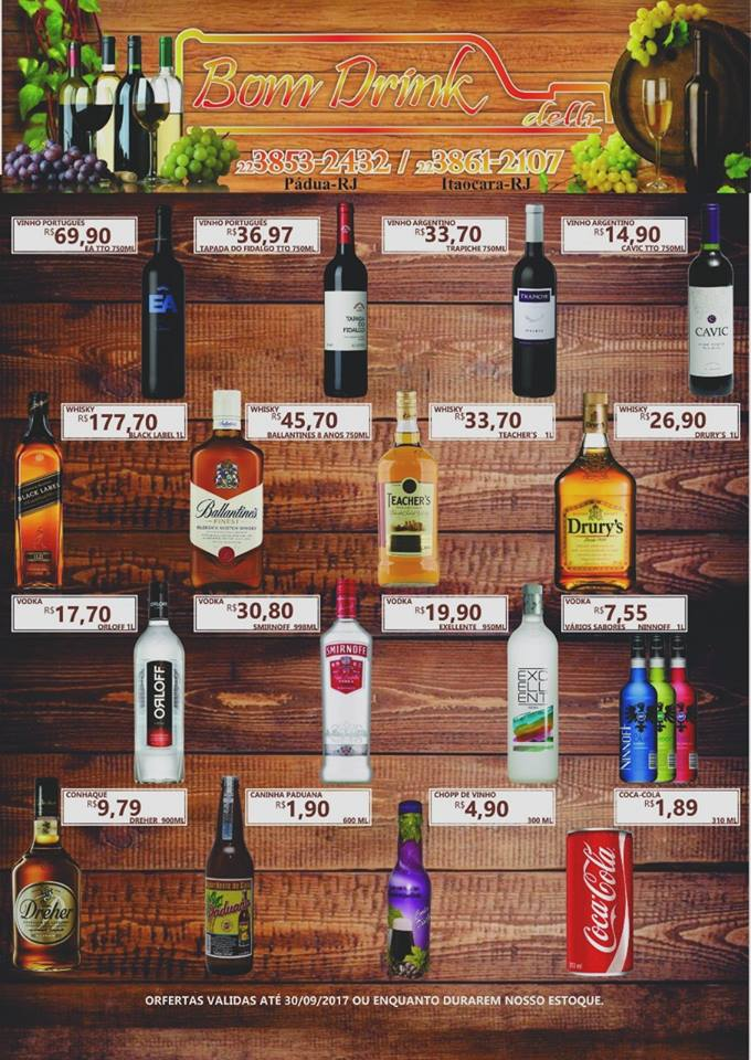 Nova Loja Bom Drink em Itaocara, traz ótimos preços de bebidas