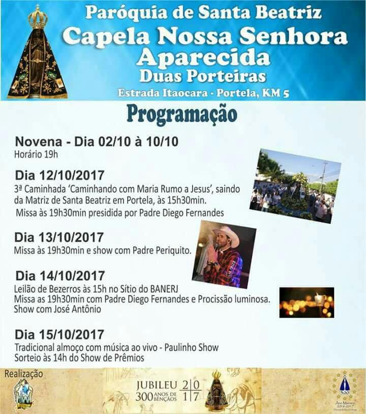 Missa e Show com Padre Periquito na Capela das Duas Porteiras