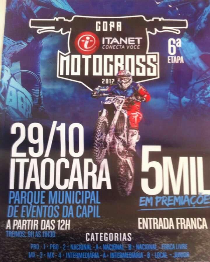Motocross em Itaocara no Parque Municipal de Eventos da CAPIL