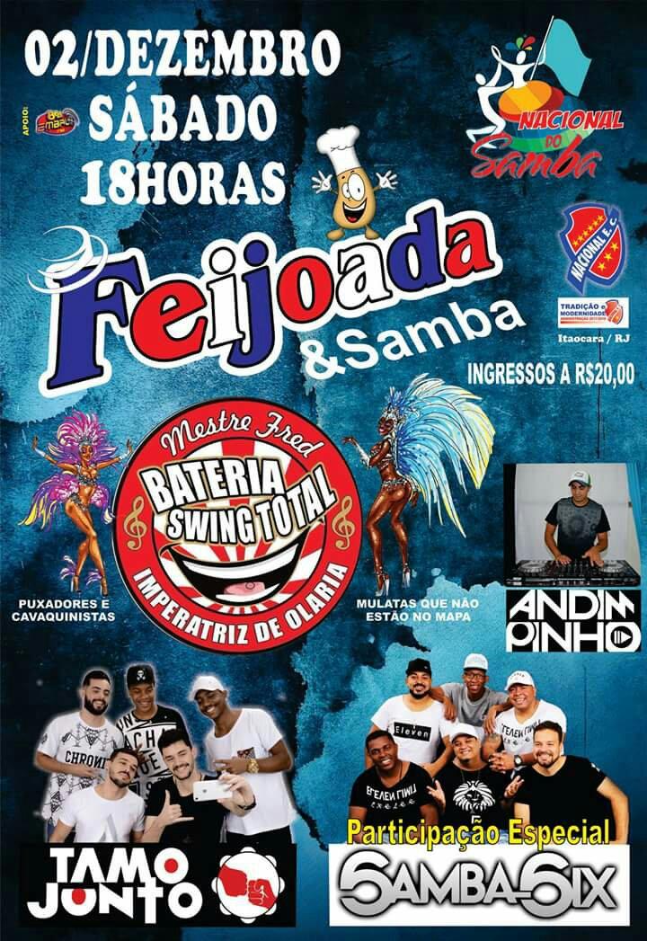 Feijoada & Samba no Clube Nacional em Itaocara