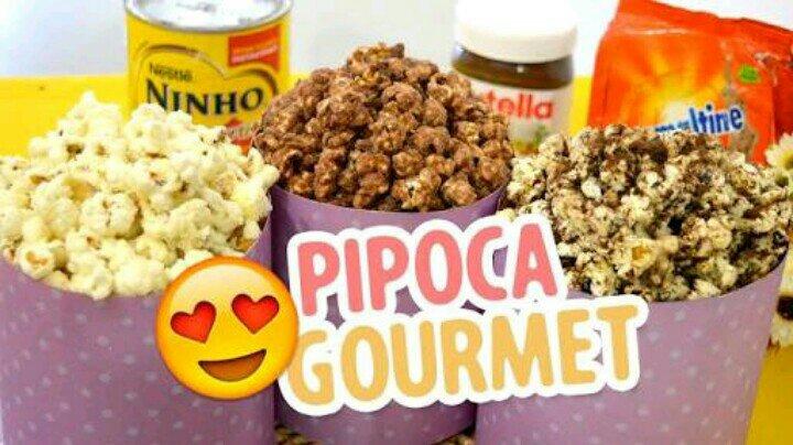 Pipoca Gourmet de Leite Ninho e Ovomaltine